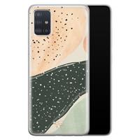 Telefoonhoesje Store Samsung Galaxy A51 siliconen hoesje - Abstract peach