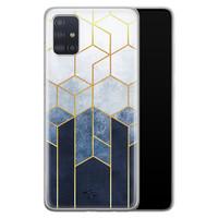 Telefoonhoesje Store Samsung Galaxy A71 siliconen hoesje - Geometrisch fade art