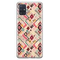Telefoonhoesje Store Samsung Galaxy A71 siliconen hoesje - Boho vibes
