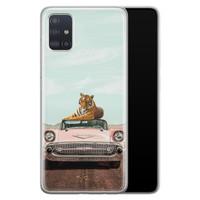 Telefoonhoesje Store Samsung Galaxy A71 siliconen hoesje - Chill tijger
