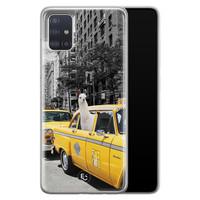 ELLECHIQ Samsung Galaxy A71 siliconen hoesje - Lama in taxi