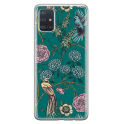 Telefoonhoesje Store Samsung Galaxy A71 siliconen hoesje - Bloomy birds