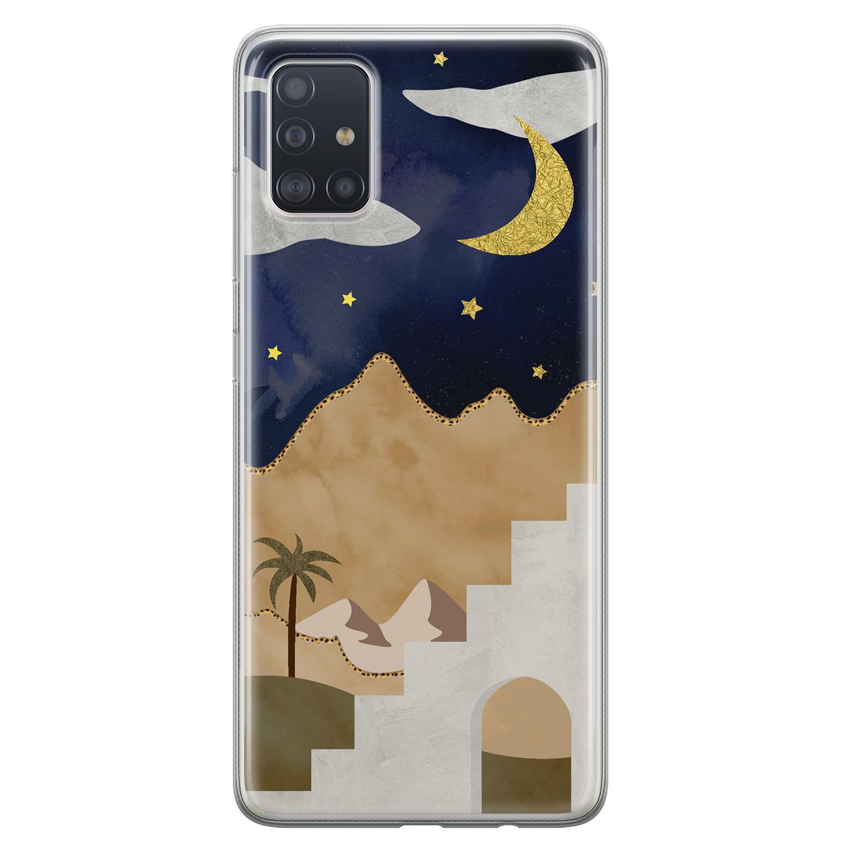 Leuke Telefoonhoesjes Samsung Galaxy A71 siliconen hoesje - Desert night