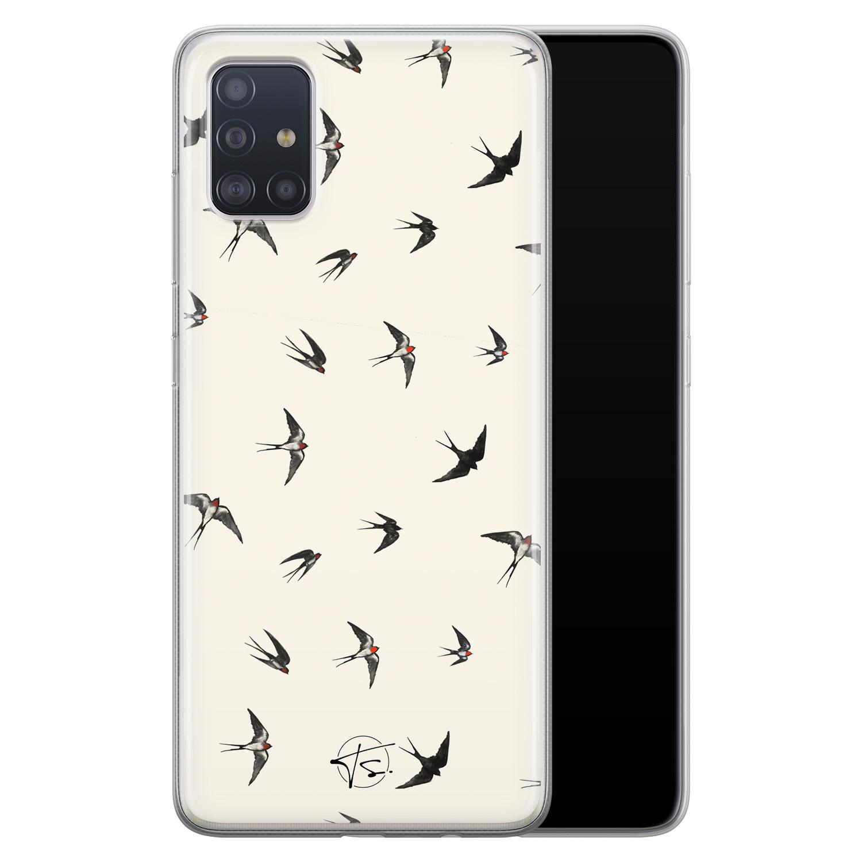 Telefoonhoesje Store Samsung Galaxy A71 siliconen hoesje - Freedom birds