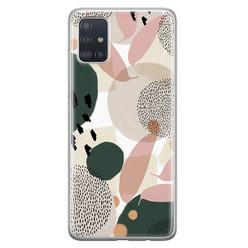 Leuke Telefoonhoesjes Samsung Galaxy A71 siliconen hoesje - Abstract print
