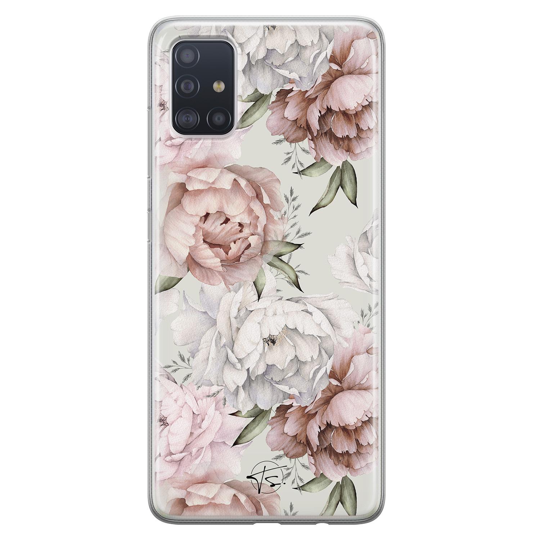 Telefoonhoesje Store Samsung Galaxy A71 siliconen hoesje - Classy flowers