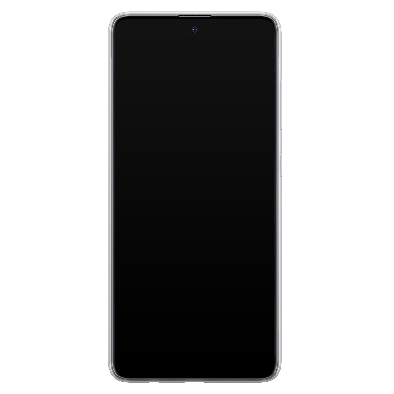 Leuke Telefoonhoesjes Samsung Galaxy A71 siliconen hoesje - Abstract gezicht lijnen
