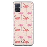 Telefoonhoesje Store Samsung Galaxy A71 siliconen hoesje - Flamingo
