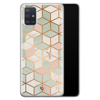 ELLECHIQ Samsung Galaxy A71 siliconen hoesje - Pastel Kubus