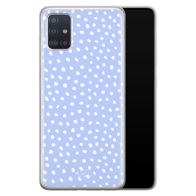 Telefoonhoesje Store Samsung Galaxy A71 siliconen hoesje - Purple dots