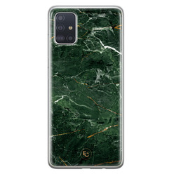 ELLECHIQ Samsung Galaxy A71 siliconen hoesje - Marble jade green