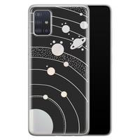 Telefoonhoesje Store Samsung Galaxy A71 siliconen hoesje - Universe space