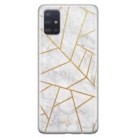 Telefoonhoesje Store Samsung Galaxy A71 siliconen hoesje - Geometrisch marmer
