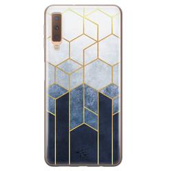 Telefoonhoesje Store Samsung Galaxy A7 2018 siliconen hoesje - Geometrisch fade art