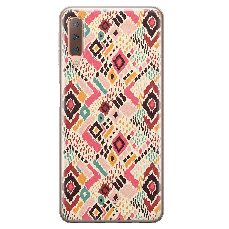 Telefoonhoesje Store Samsung Galaxy A7 2018 siliconen hoesje - Boho vibes