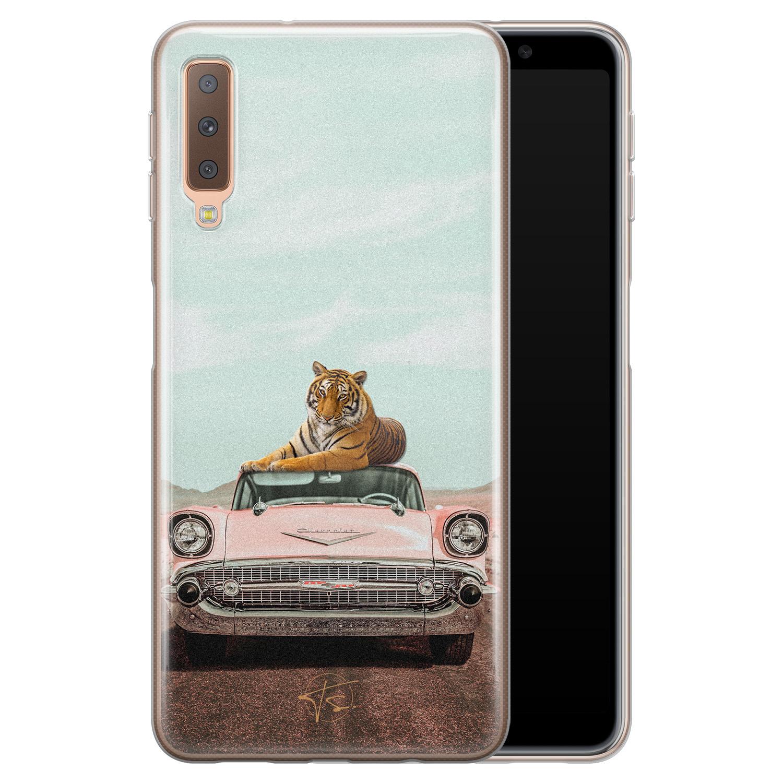 Telefoonhoesje Store Samsung Galaxy A7 2018 siliconen hoesje - Chill tijger