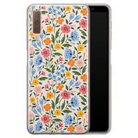Telefoonhoesje Store Samsung Galaxy A7 2018 siliconen hoesje - Romantische bloemen