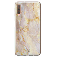 ELLECHIQ Samsung Galaxy A7 2018 siliconen hoesje - Stay Golden Marble