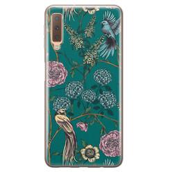 Telefoonhoesje Store Samsung Galaxy A7 2018 siliconen hoesje - Bloomy birds