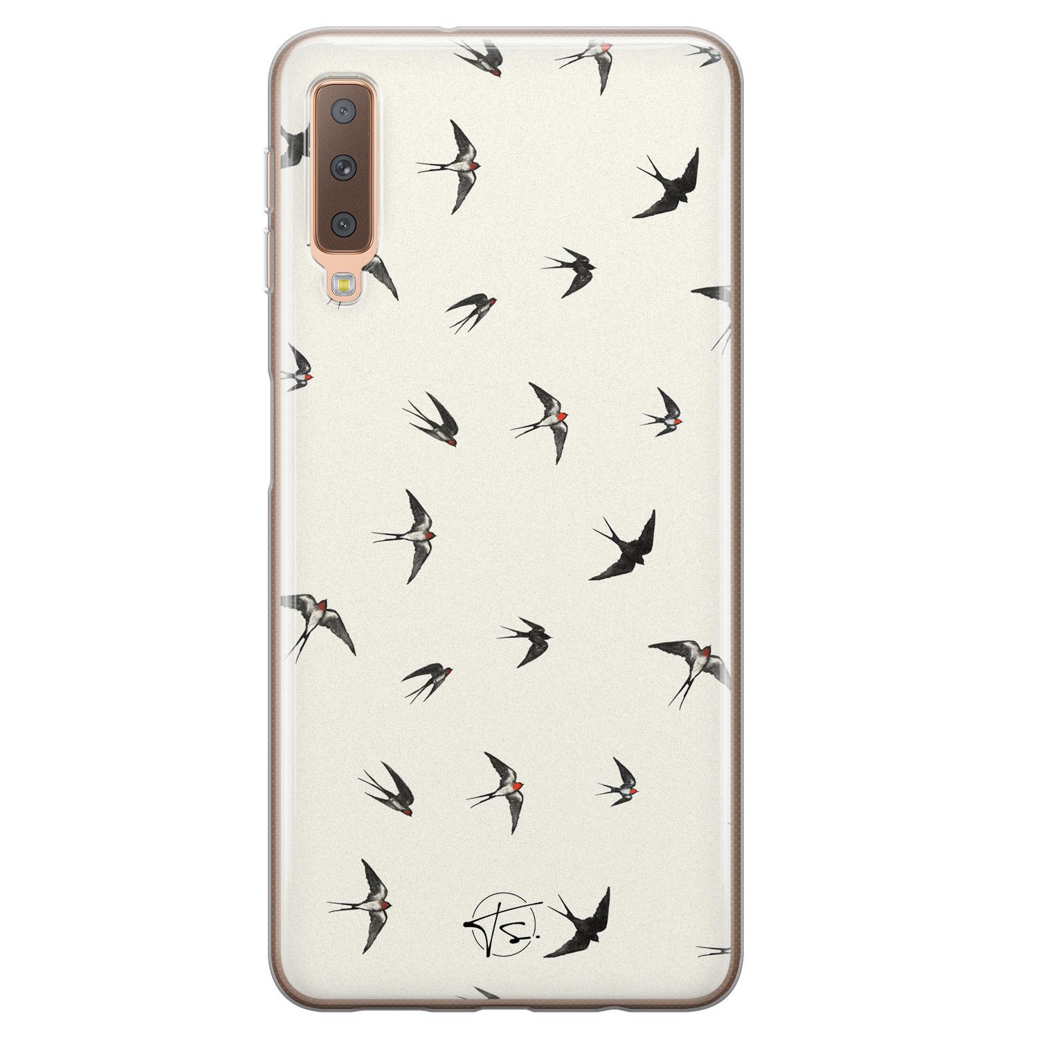 Telefoonhoesje Store Samsung Galaxy A7 2018 siliconen hoesje - Freedom birds