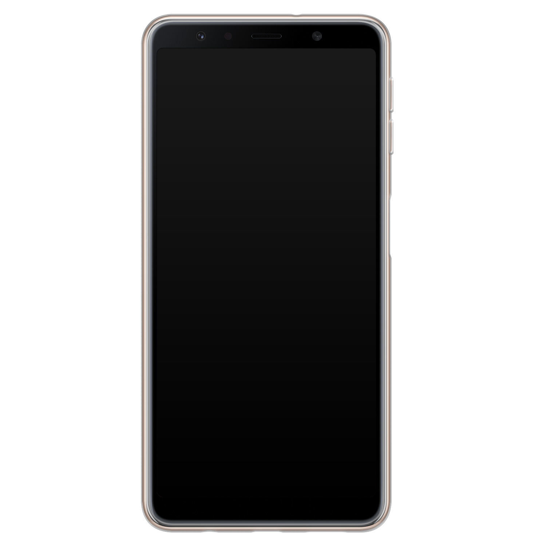 Leuke Telefoonhoesjes Samsung Galaxy A7 2018 siliconen hoesje - Abstract print