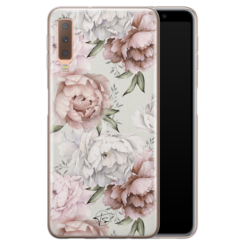 Telefoonhoesje Store Samsung Galaxy A7 2018 siliconen hoesje - Classy flowers