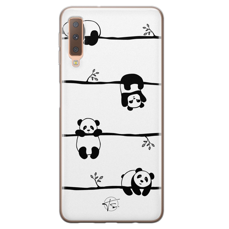 Telefoonhoesje Store Samsung Galaxy A7 2018 siliconen hoesje - Panda