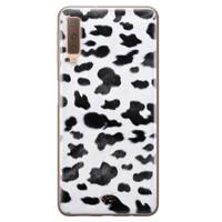Telefoonhoesje Store Samsung Galaxy A7 2018 siliconen hoesje - Koeienprint
