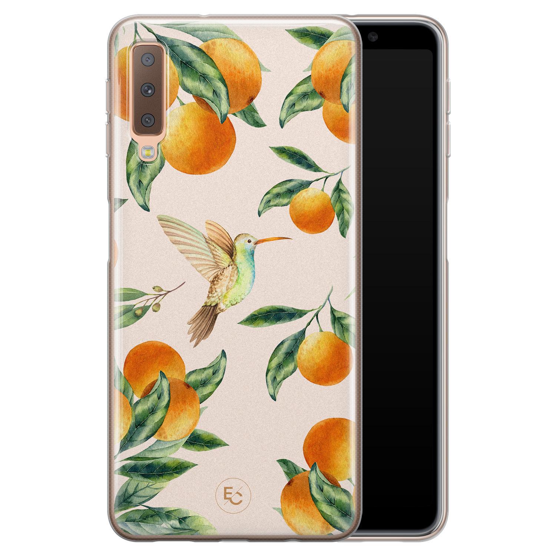 ELLECHIQ Samsung Galaxy A7 2018 siliconen hoesje - Tropical Lemonade