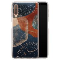 ELLECHIQ Samsung Galaxy A7 2018 siliconen hoesje - Abstract Terracotta