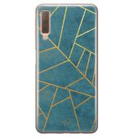 Telefoonhoesje Store Samsung Galaxy A7 2018 siliconen hoesje - Abstract blauw