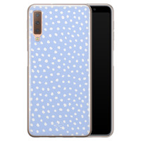 Telefoonhoesje Store Samsung Galaxy A7 2018 siliconen hoesje - Purple dots