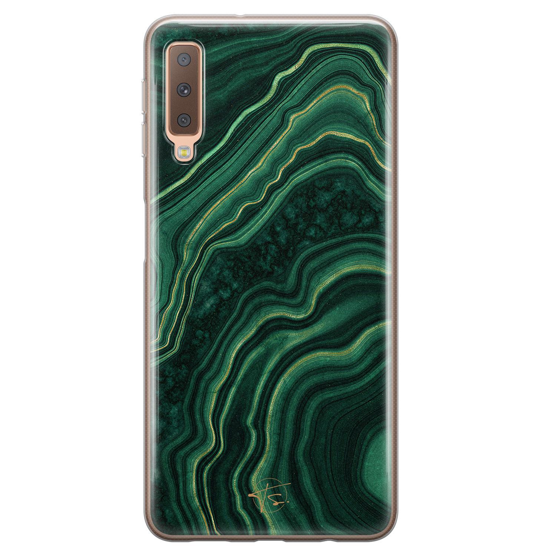 Telefoonhoesje Store Samsung Galaxy A7 2018 siliconen hoesje - Agate groen