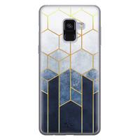 Telefoonhoesje Store Samsung Galaxy A8 2018 siliconen hoesje - Geometrisch fade art