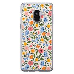 Telefoonhoesje Store Samsung Galaxy A8 2018 siliconen hoesje - Romantische bloemen