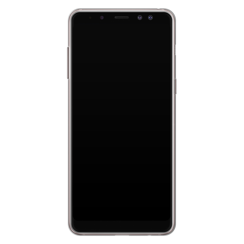 ELLECHIQ Samsung Galaxy A8 2018 siliconen hoesje - Stay Golden Marble
