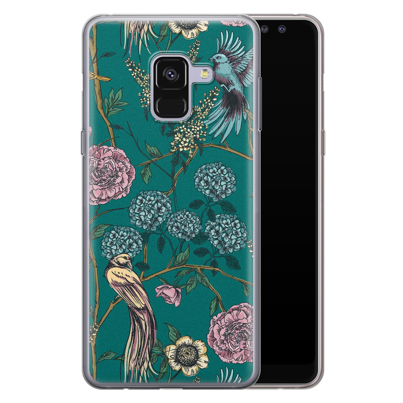 Telefoonhoesje Store Samsung Galaxy A8 2018 siliconen hoesje - Bloomy birds