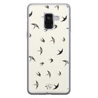 Telefoonhoesje Store Samsung Galaxy A8 2018 siliconen hoesje - Freedom birds