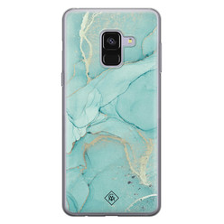 Casimoda Samsung Galaxy A8 2018 siliconen hoesje - Touch of mint