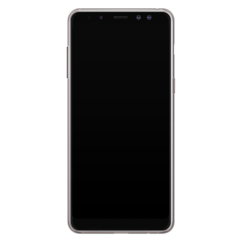 Leuke Telefoonhoesjes Samsung Galaxy A8 2018 siliconen hoesje - Abstract gezicht lijnen
