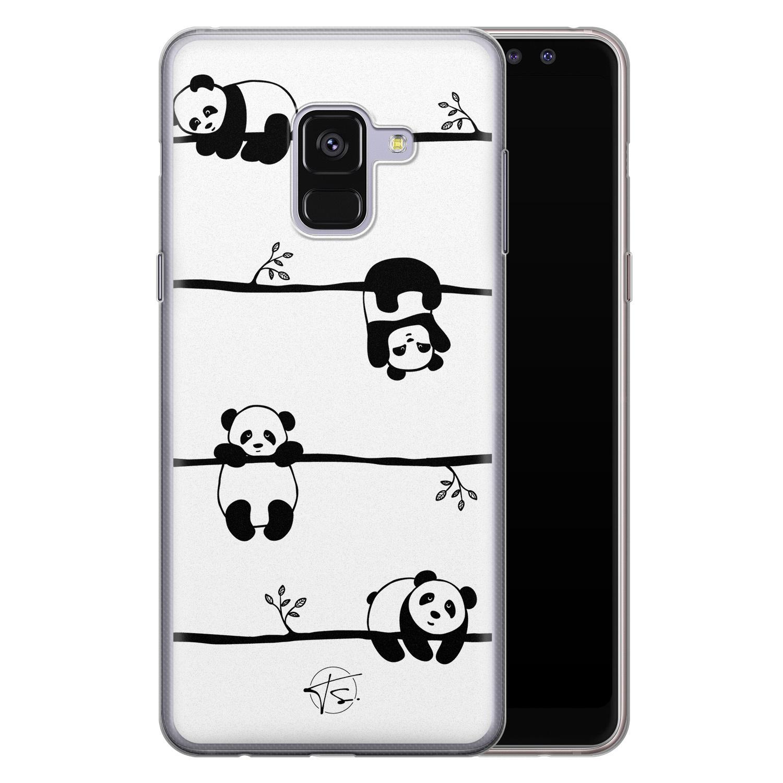 Telefoonhoesje Store Samsung Galaxy A8 2018 siliconen hoesje - Panda