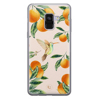 ELLECHIQ Samsung Galaxy A8 2018 siliconen hoesje - Tropical Lemonade
