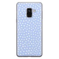 Telefoonhoesje Store Samsung Galaxy A8 2018 siliconen hoesje - Purple dots