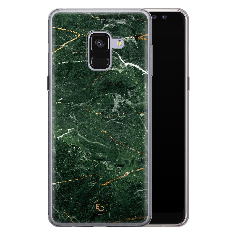 ELLECHIQ Samsung Galaxy A8 2018 siliconen hoesje - Marble jade green