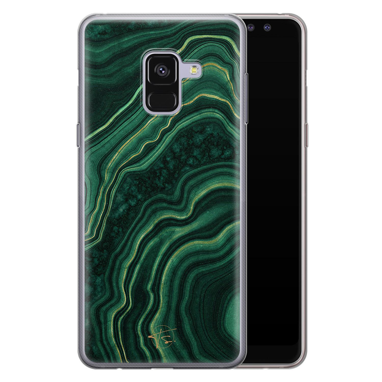 Telefoonhoesje Store Samsung Galaxy A8 2018 siliconen hoesje - Agate groen
