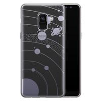 Telefoonhoesje Store Samsung Galaxy A8 2018 siliconen hoesje - Universe space