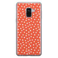 Telefoonhoesje Store Samsung Galaxy A8 2018 siliconen hoesje - Orange dots