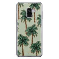 Telefoonhoesje Store Samsung Galaxy A8 2018 siliconen hoesje - Palmbomen