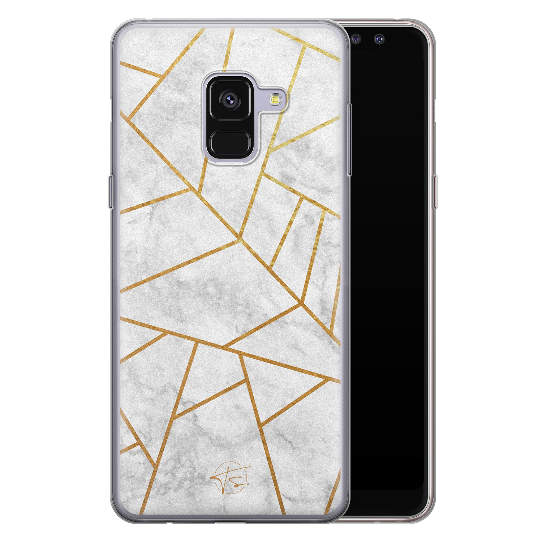 Telefoonhoesje Store Samsung Galaxy A8 2018 siliconen hoesje - Geometrisch marmer