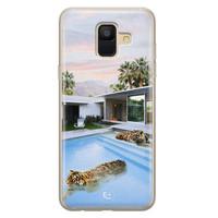 ELLECHIQ Samsung Galaxy A6 2018 siliconen hoesje - Tiger pool